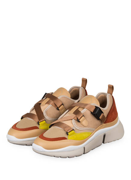 Chloé Sneaker SONNIE LOW, Farbe: MAPLE PINK (Bild 1)