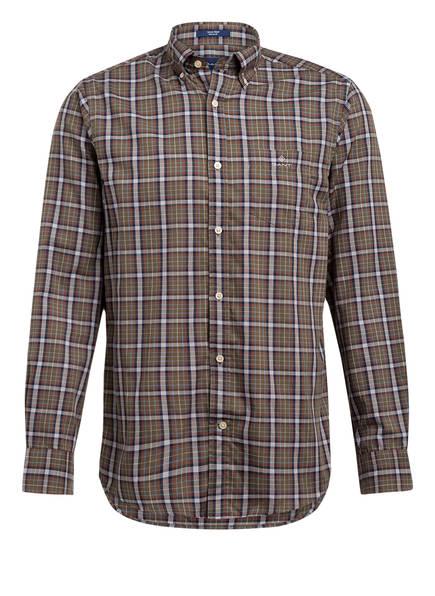 GANT Hemd, Farbe: OLIV/ DUNKELBLAU/ ROT KARIERT (Bild 1)