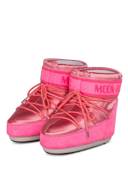 MOON BOOT Moon Boots CLASSIC LOW SATIN, Farbe: NEONROSA (Bild 1)