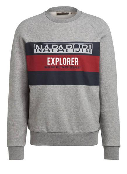 NAPAPIJRI Sweatshirt BOVES, Farbe: NAVY/ GRAU MELIERT (Bild 1)