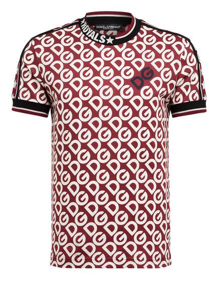 DOLCE&GABBANA T-Shirt, Farbe: DUNKELROT/ SCHWARZ/ WEISS (Bild 1)
