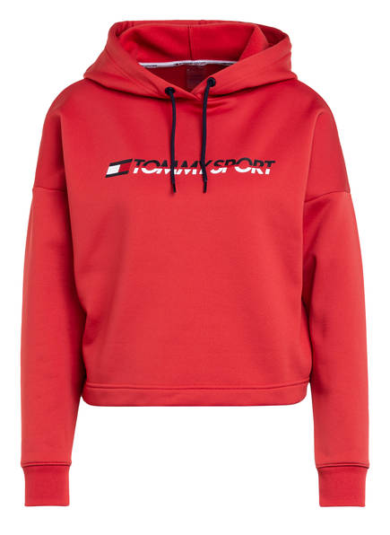 TOMMY HILFIGER Cropped-Hoodie , Farbe: HELLROT (Bild 1)