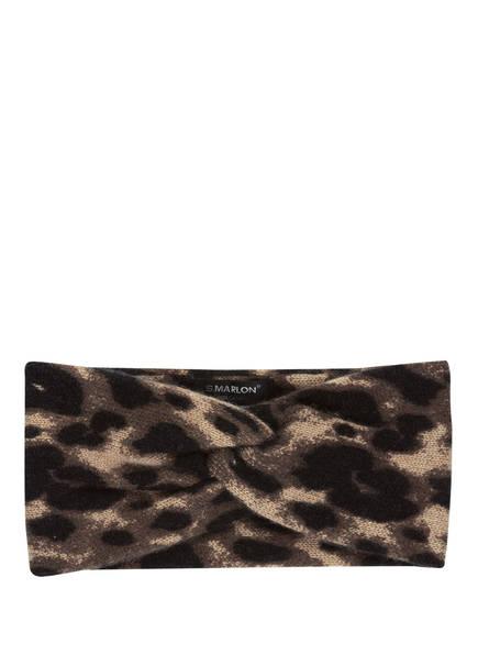 S.MARLON Cashmere-Stirnband, Farbe: BEIGE/ SCHWARZ/ KHAKI (Bild 1)