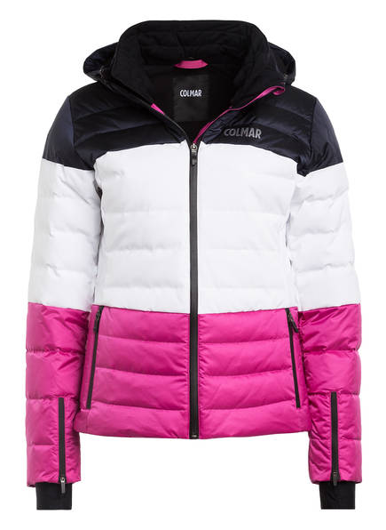 COLMAR Daunen-Skijacke OLIMPIA , Farbe: WEISS/ DUNKELBLAU/ PINK (Bild 1)