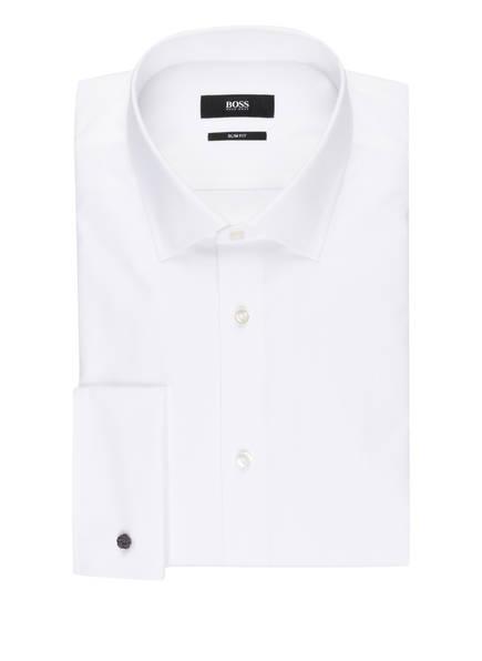 BOSS Hemd JACQUES Slim Fit mit Umschlagmanschette, Farbe: WEISS (Bild 1)