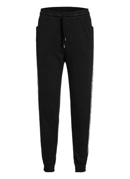 JET SET Sweatpants, Farbe: SCHWARZ/ SILBER (Bild 1)