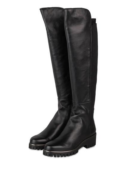 DONNA CAROLINA Overknee-Stiefel, Farbe: SCHWARZ (Bild 1)