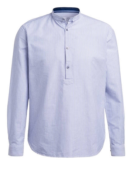 gössl Trachtenhemd mit Leinen, Farbe: HELLBLAU/ WEISS GESTREIFT (Bild 1)