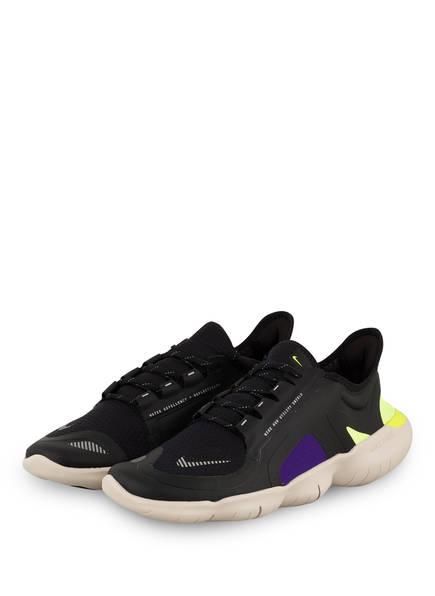 Nike Laufschuhe FREE RN 5.0, Farbe: SCHWARZ/ NEONGELB/ LILA (Bild 1)