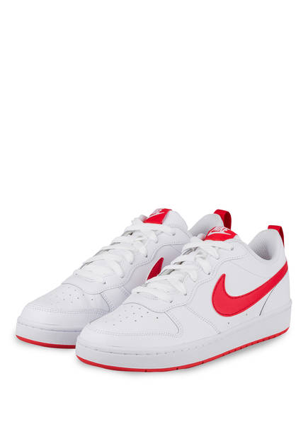 Nike Sneaker COURT BOROUGH LOW 2, Farbe: WEISS/ ROT (Bild 1)