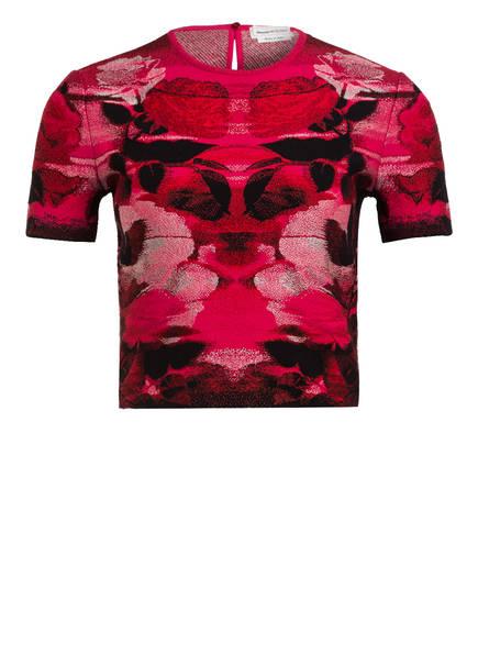 ALEXANDER McQUEEN Cropped-Shirt, Farbe: PINK/ ROT/ SCHWARZ (Bild 1)
