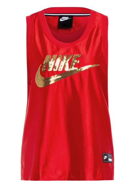 Nike Top ICON CLASH mit Paillettenbesatz , Farbe: ROT/ GOLD (Bild 1)