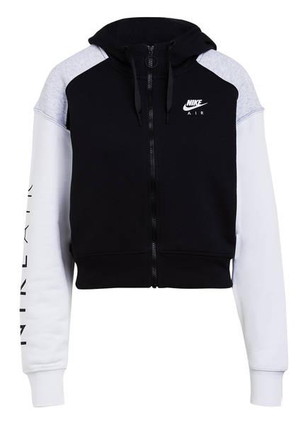 Nike Cropped-Sweatjacke AIR, Farbe: SCHWARZ/ HELLGRAU/ WEISS (Bild 1)