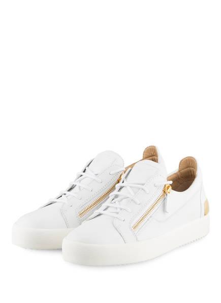 GIUSEPPE ZANOTTI DESIGN Sneaker FRANKIE STEEL, Farbe: WEISS/ GOLD (Bild 1)