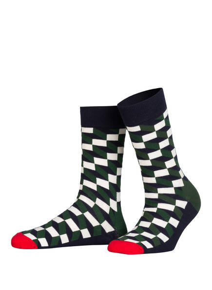 Happy Socks 4er-Pack Socken in Geschenkbox, Farbe: 4000 DUNKELBLAU/ GRÜN/ DUNKELROT (Bild 1)