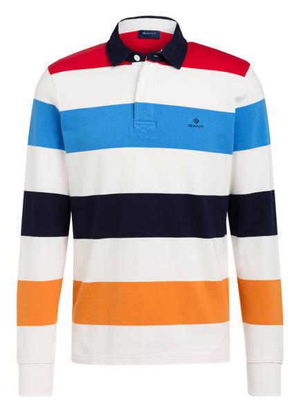 GANT Poloshirt HEAVY RUGGER Regular Fit, Farbe: WEISS/ ROT/ BLAU GESTREIFT (Bild 1)