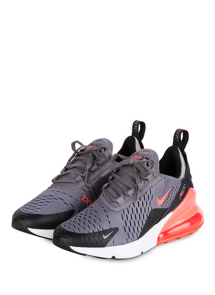 Nike Sneaker AIR MAX 270 GS , Farbe: GRAU/ SCHWARZ/ NEONPINK (Bild 1)