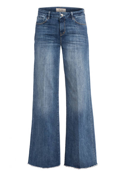 MOS MOSH Flared Jeans ZOEY BLOSSOM, Farbe: 452 MID BLUE WASH LONG (Bild 1)