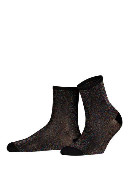BECK SÖNDERGAARD Socken DINA SOLID mit Glitzergarn, Farbe: SCHWARZ (Bild 1)