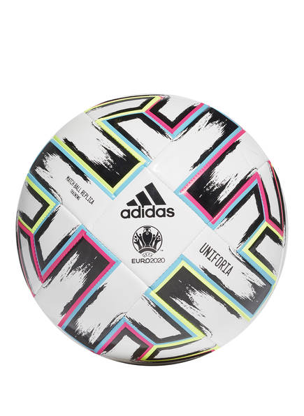 adidas Fußball UNIFORIA Trainingsball, Farbe: WEISS/ ROSA/ BLAU (Bild 1)