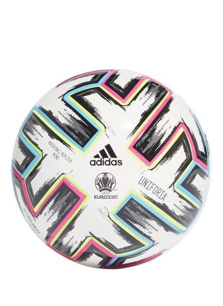 adidas Fußball UNIFORIA MINIBALL, Farbe: WEISS/ ROSA/ BLAU (Bild 1)