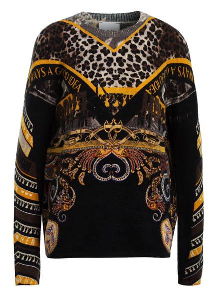 TAIFUN Pullover, Farbe: SHWARZ/ BEIGE/ DUNKELGELB (Bild 1)