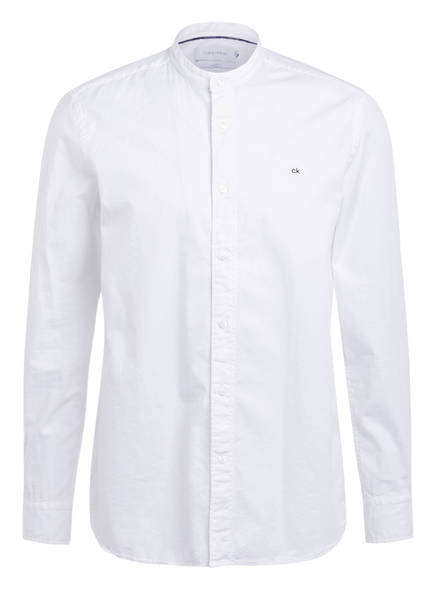Calvin Klein Hemd Regular Fit mit Stehkragen, Farbe: WEISS (Bild 1)