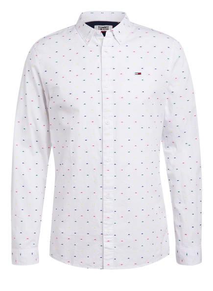 TOMMY JEANS Hemd Slim Fit, Farbe: WEISS/ BLAU/ ROSA (Bild 1)