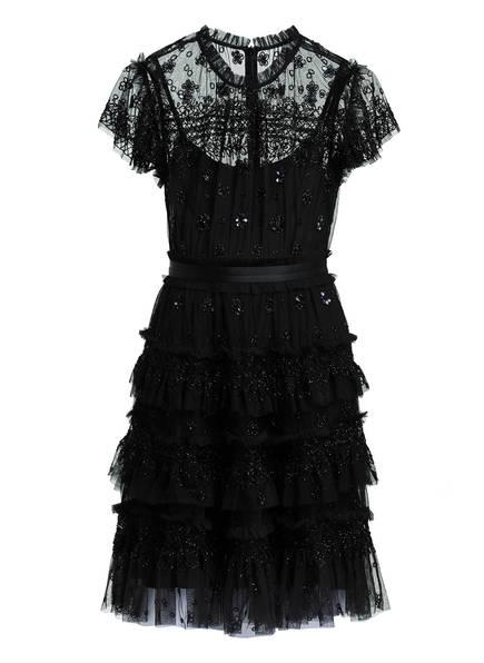 needle & thread Kleid ANDROMEDA mit Schmucksteinbesatz, Farbe: SCHWARZ (Bild 1)
