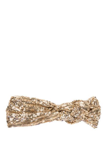 BECK SÖNDERGAARD Stirnband mit Paillettenbesatz, Farbe: GOLD (Bild 1)
