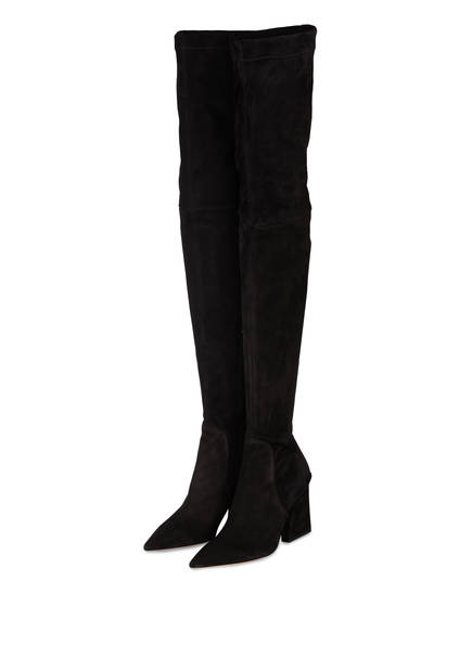 BOSS Overknee-Stiefel CHRISTY, Farbe: SCHWARZ (Bild 1)