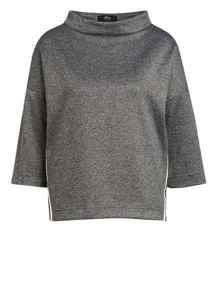 s.Oliver BLACK LABEL Sweatshirt, Farbe: SCHWARZ/ GRAU/ WEISS (Bild 1)