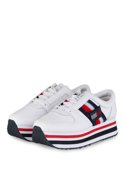 TOMMY HILFIGER Plateau-Sneaker CUSTOMIZE, Farbe: WEISS (Bild 1)