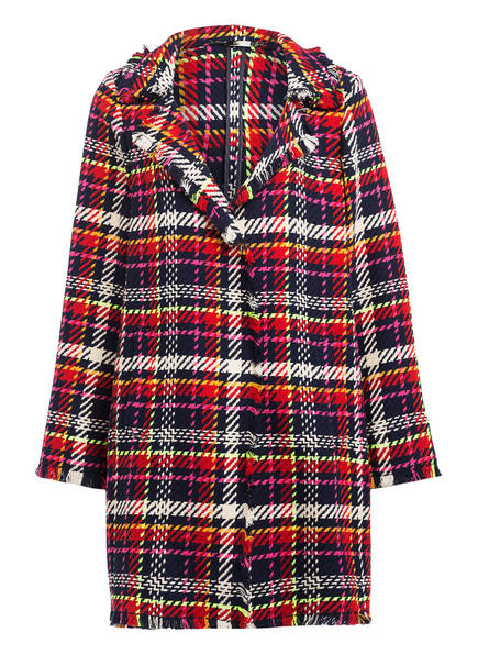 NVSCO Tweed-Mantel SANNE, Farbe: ROT/ DUNKELBLAU/ WEISS (Bild 1)