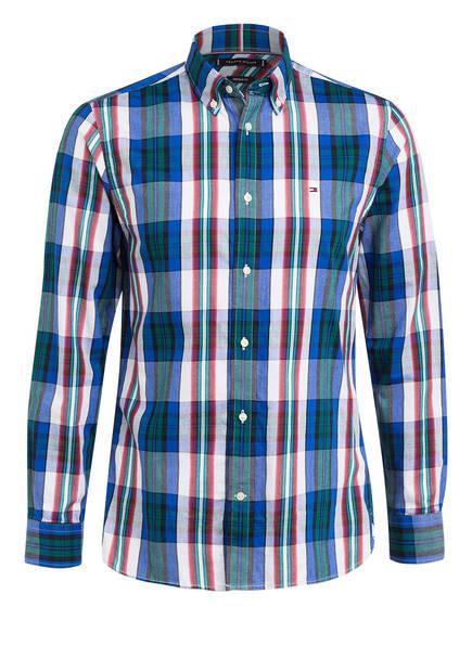 TOMMY HILFIGER Hemd Regular Fit, Farbe: BLAU/ GRÜN/ WEISS (Bild 1)