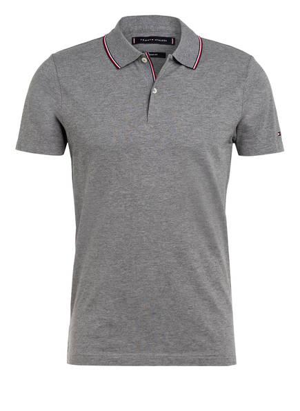 TOMMY HILFIGER Piqué-Poloshirt Slim Fit , Farbe: GRAU MELIERT (Bild 1)