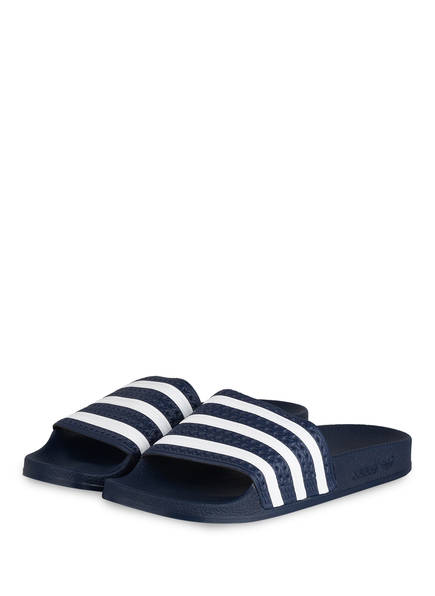 adidas Originals Badeschuhe ADILETTE, Farbe: DUNKELBLAU/ WEISS (Bild 1)