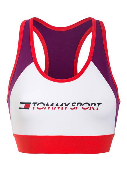 TOMMY HILFIGER Sport-BH , Farbe: ROT/ WEISS/ LILA (Bild 1)