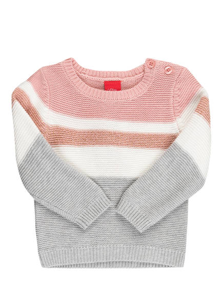 s.Oliver Pullover, Farbe: ROSE/ GRAU/ WEISS (Bild 1)