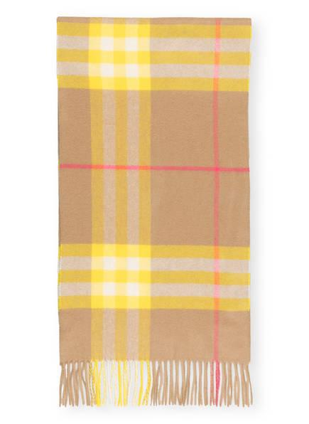 BURBERRY Cashmere-Schal, Farbe: GIANTCHECK/ ARCHIVE BEIGE/ YELLOW (Bild 1)
