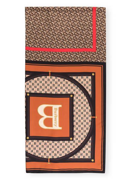 BURBERRY Seidenschal, Farbe: CREME/ BRAUN/ ROT (Bild 1)