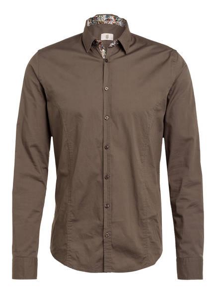 Q1 Manufaktur Hemd STEVE Extra Slim Fit, Farbe: KHAKI (Bild 1)