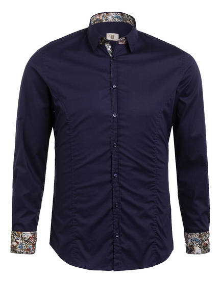 Q1 Manufaktur Hemd STEVE Extra Slim Fit, Farbe: DUNKELBLAU (Bild 1)