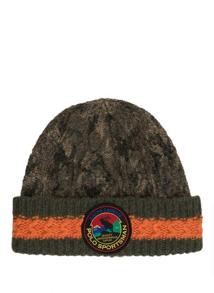 POLO RALPH LAUREN Mütze , Farbe: OLIV/ ORANGE (Bild 1)