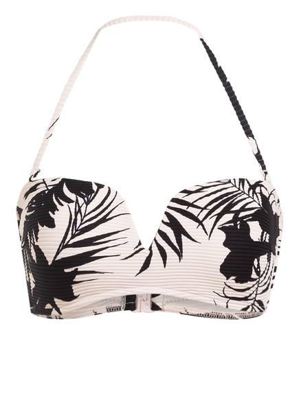 SEAFOLLY Bandeau-Bikini-Top WILD TROPICS , Farbe: HELLROSA/ SCHWARZ (Bild 1)