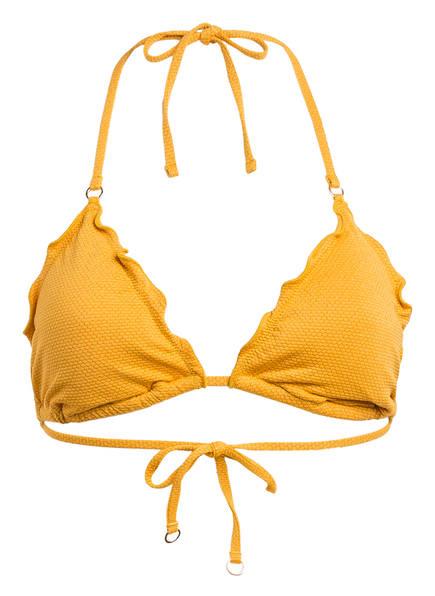 SEAFOLLY Triangel-Bikini-Top STARDUST mit Glitzergarn, Farbe: DUNKELGELB (Bild 1)