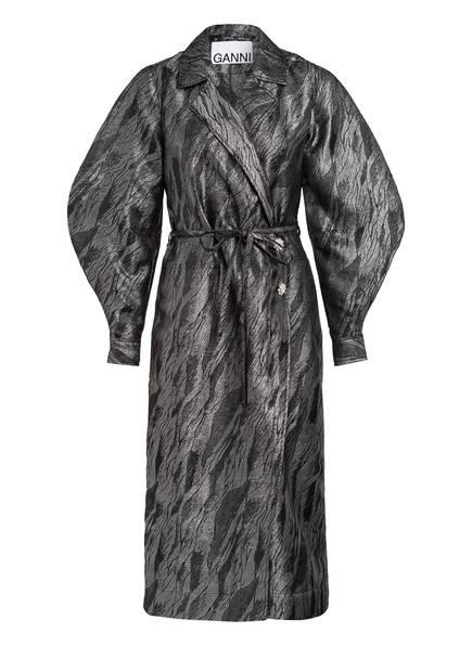 GANNI Jacquard-Kleid, Farbe: DUNKELGRAU (Bild 1)