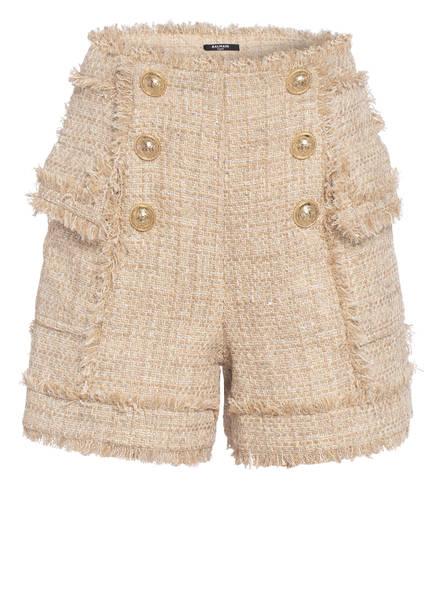 BALMAIN Tweed-Shorts, Farbe: BEIGE (Bild 1)