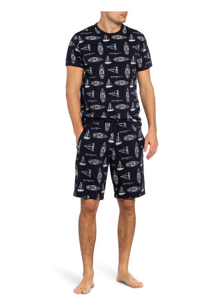 JOCKEY Lounge-Shirt DUNKELBLAU/ WEISS - Herrenbekleidung Rabatt