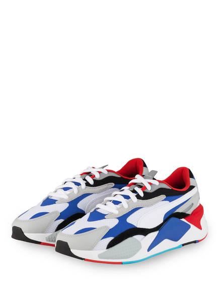 PUMA Sneaker RS-X³ PUZZLE, Farbe: WEISS/ BLAU/ GRAU (Bild 1)